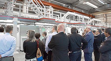 """""""Trockenlauf""""-Vorführung auf der ROTOCOAT-Aluminiumlackieranlage in der Produktionsstätte von Bobst Italia"""