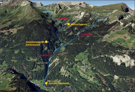 Karte Sousbach