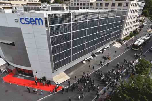 Photovoltaic building facade for CSEM